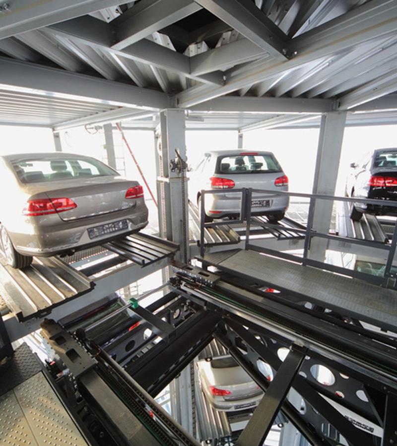 L'utilizzo di montauto meccanici per i parcheggi multipiano sono la soluzione migliore per quelle strutture che non hanno sufficiente spazio per le rampe | GP ELEVATORI